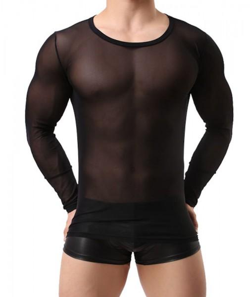 Verano Herren Shirt 1/1 Arm transparent schwarz