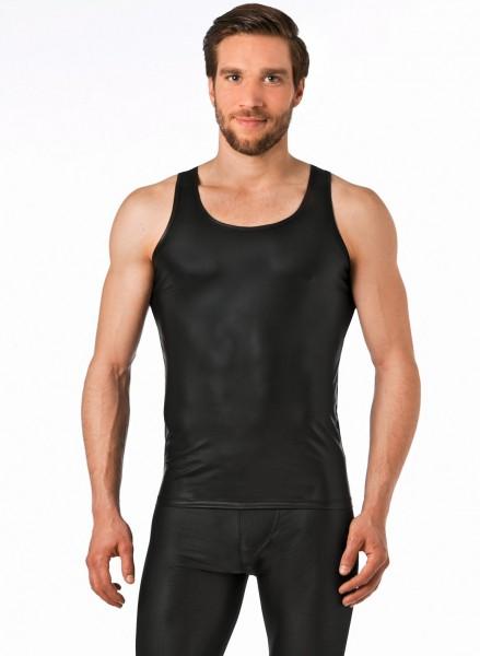 Verano Latex ähnliches Herren Unterhemd - Vinyl -Wetlock Unterhemd- schwarz