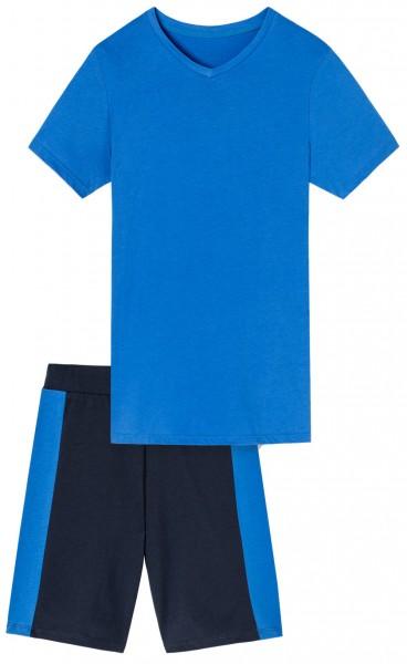 Jungen Schlafanzug mit Bermuda Hose VA-104100-800